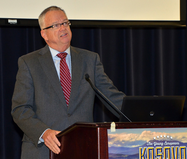 Court of Appeals Judge Larry Eisenhauer shares about his time in Kosovo.