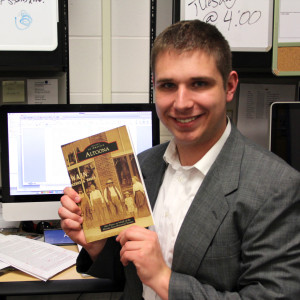 Alex Payne holds a copy of his new book, which will be published May 19, 2013.