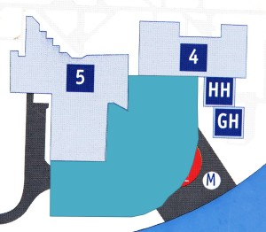 The light blue area shows the proposed area for the new facility.