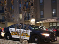 An Ankeny police vehicle responds to a call at Campus Town, Monday, Nov. 3.