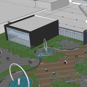 A rendering of the new Building 5 student center.Image courtesy DMACC Physical Plant