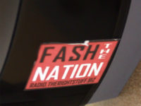 "A sticker promoting the ""Fash the Nation"" podcast was found in the men's restroom in Building 4. The sticker was removed Monday, Oct. 17."