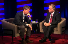 Beto O'Rourke intervied by IPTV's David Yepsen Sept. 21. Photo by Kaleb Schlatter.