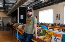 Luke Dickens, owner of Vinyl Cup Records in Beaverdale and Marv's Music in the East Village.
