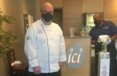 Chef John Andres giving a tour of the Bistro facilities. Photo courtesy Bella McDonald.