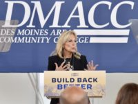 First lady Jill Biden speaks at the FFA Building on the Ankeny DMACC Campus Wednesday, Sept. 15. Photo courtesy Dan Ivis.
